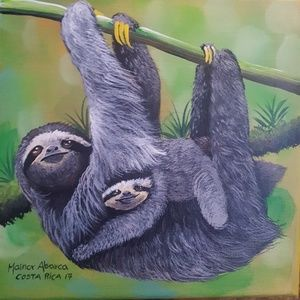 """Other - Sloth Painting 😍 Costa Rica Original 🌴 8"""" x 8"""""""